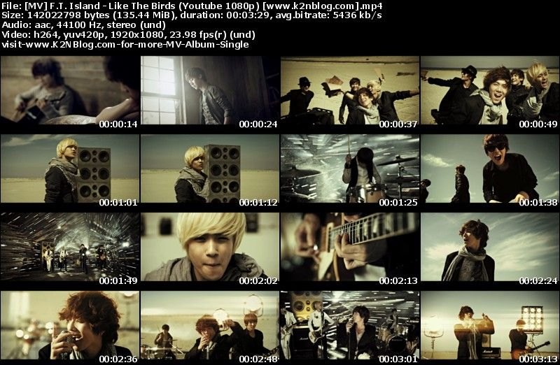 FT Island - Like The Birds MV Thumbnail