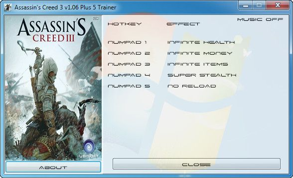 Assassin's Creed 3 v1.06 +5 Trainer [Grizzly]