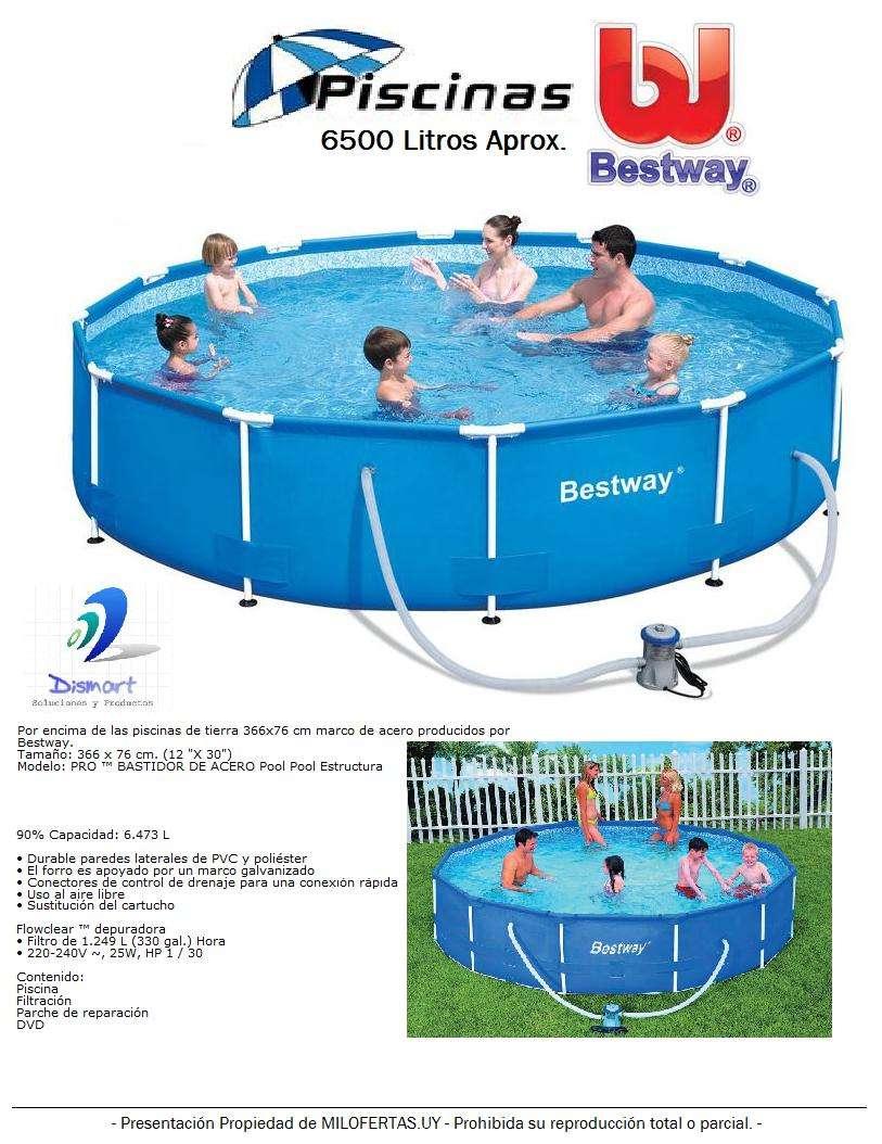 piscina estructural bestway 6500 litros con bomba oferta