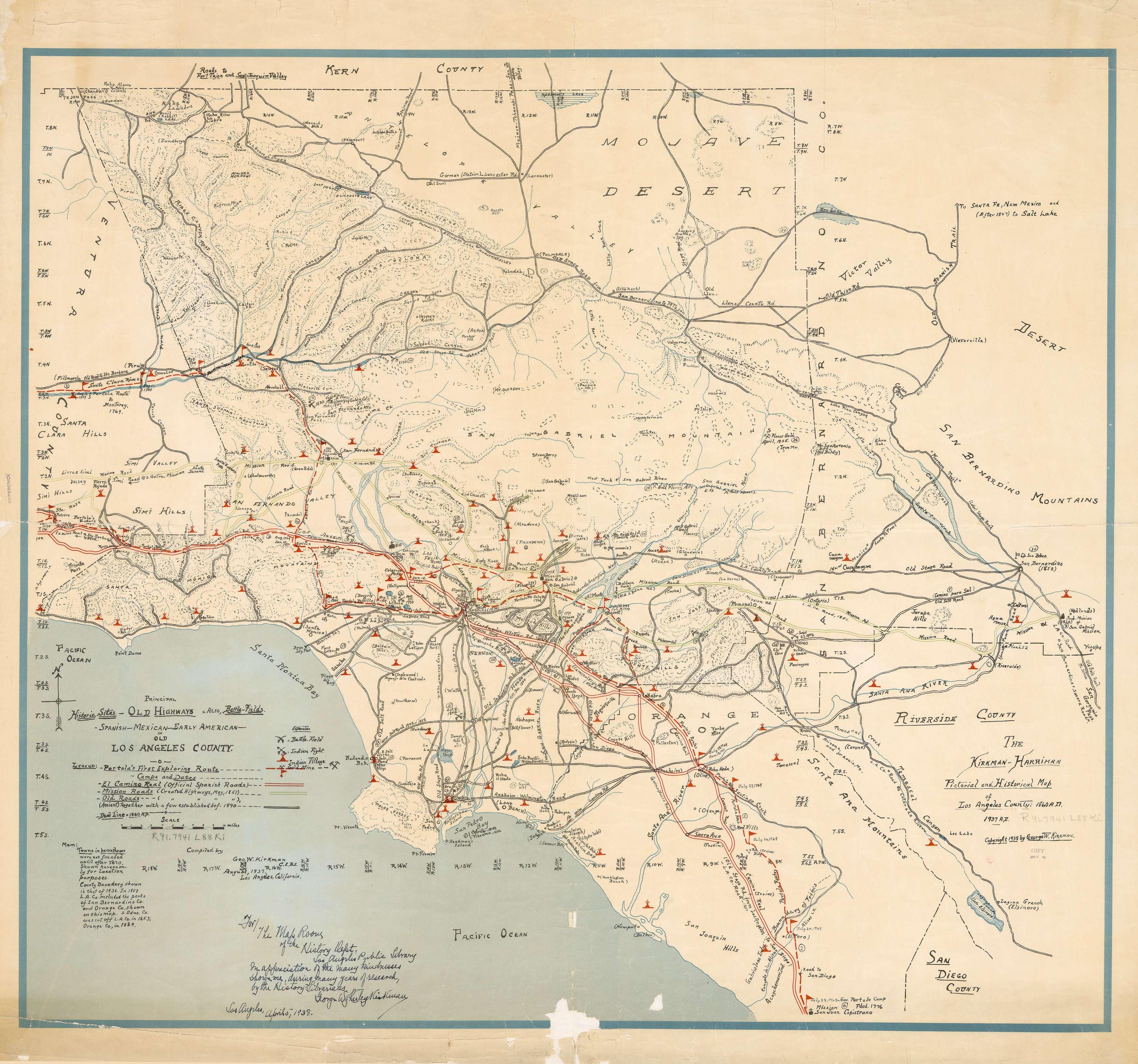 Noirish Los Angeles Page  SkyscraperPage Forum - Los angeles map vintage